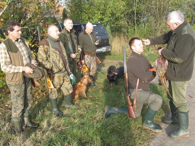 KL Daniel w Lesnie - Polowanie na bazanty i chrzest 2014 11