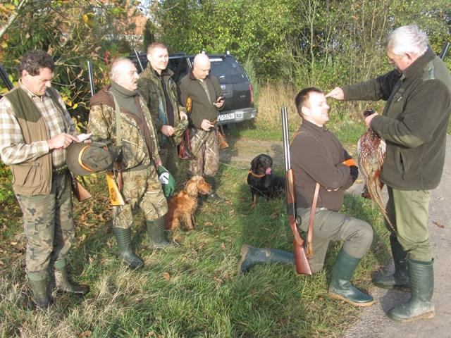 KL Daniel w Lesnie - Polowanie na bazanty i chrzest 2014 12