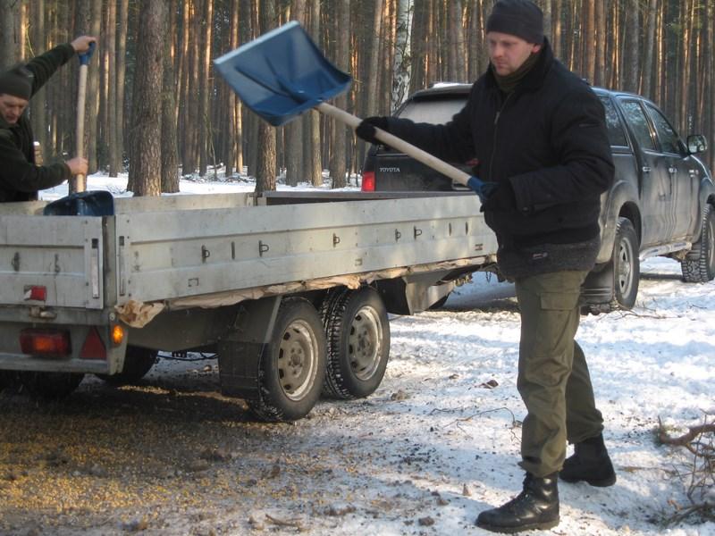 KL Daniel w Lesnie - Praca w lowisku 2014-01-25 11