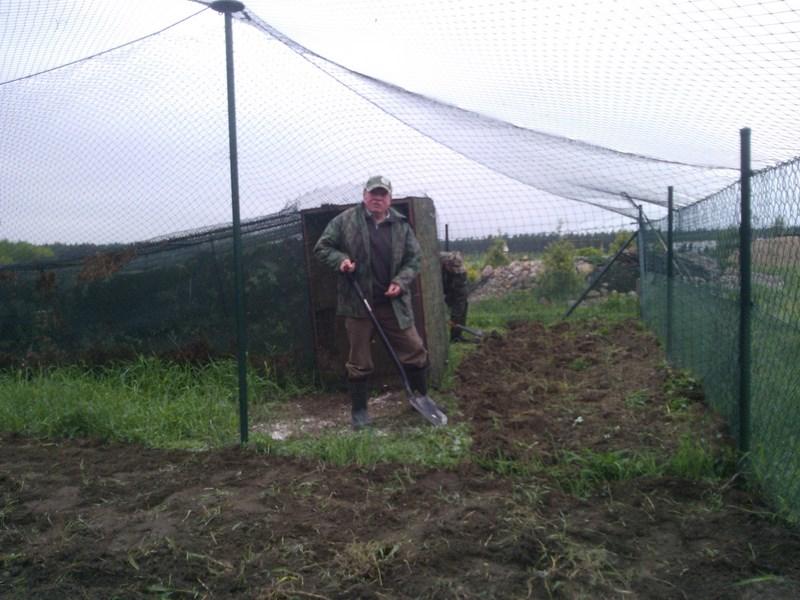 KL Daniel w Lesnie - Praca w wolierze 2013-05 02