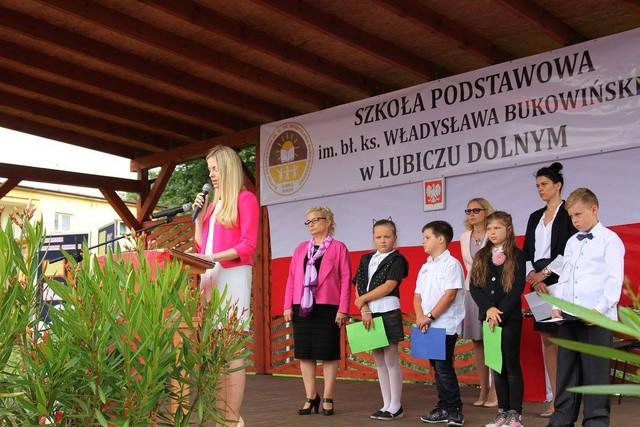 KL Daniel w Lesnie - Uroczystosc szkolna 2017-09 03