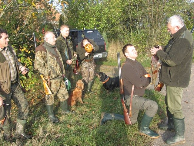 KL Daniel w Lesnie - Polowanie na bazanty i chrzest 2014 10
